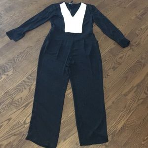 BCBG New With Tags Black and White Jumpsuit